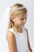 Pearls & Beads Crown with Veil