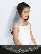 Girls Veil with Embroidery/Beading
