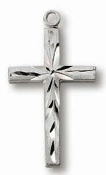 "Sterling Silver Cross on 18"" chain"