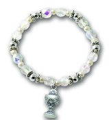 Communion Crystal AB Stretch Bracelet