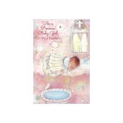 GREETING CARD - Baby Girl Baptism