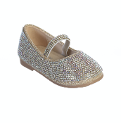 Infant Rhinestone Shoes Rose Gold