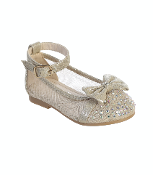 Infant Mesh Flats with Rhinestone Bow