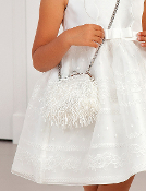Abel & Lula White Fringe Purse