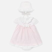 Mayoral Baby girl Cotton Dress w/Bonnet