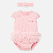 Mayoral Baby Girl Ruffled Onesie & Headband Set