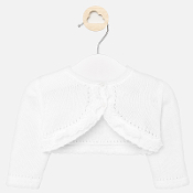 Mayoral Baby Bolero with Lace Trim