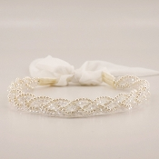 The Plaited Crystal & Pearl Headband