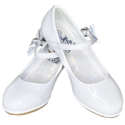 "Sweapea ""Pearl"" High Heel Shoe w/Bow Strap"