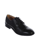 Boys Patent Leather Lace Up Shoe