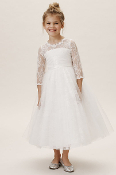 Princess Daliana Long Sleeve Lace Dress