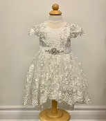 Princess Daliana Embroidered Lace/Tulle Hi Low Infant Dress