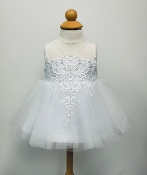 Princess Daliana Embroidered Tulle Infant Dress