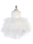 "Infant Ruffled Tulle Dress ""High-Low"""