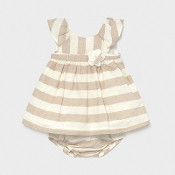Mayoral Baby Girl Linen Striped Dress