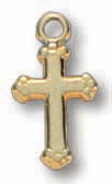 18kt Gold on Sterling Silver Cross on 16in Chain
